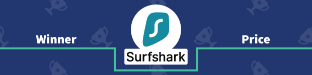 VPN Provider vs Provider Winner Price Banner Surfshark