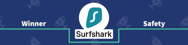 VPN Provider vs Provider Winner Safety Banner Surfshark