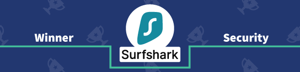 VPN Provider vs Provider Winner Security Banner Surfshark