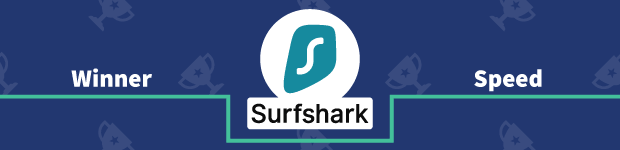 VPN Provider vs Provider Winner Speed Banner Surfshark