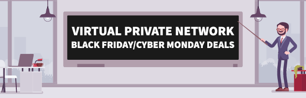 VPN Virtual Private Network Black Friday Cyber Monday Deals Banner