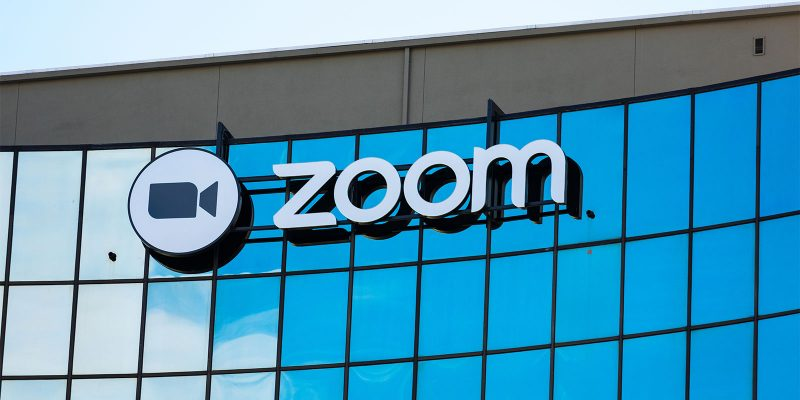 zoom logo on building